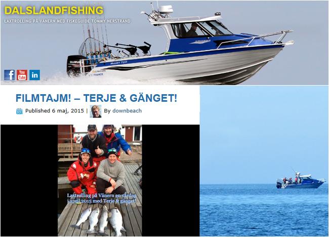 Dalsland fishing tommy nerstrand april 2015 vänern trolling lax öring