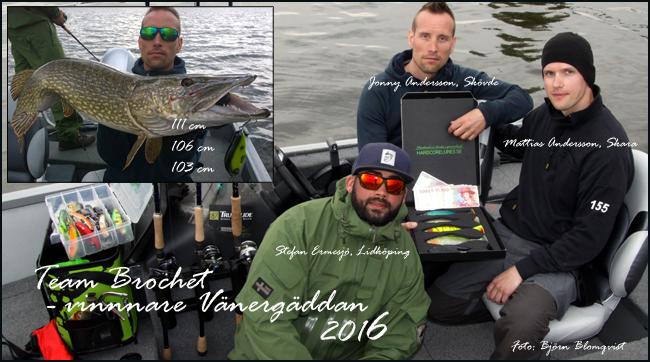 team brochet segrade i vänergäddan 2016 gädda vänern mariestad björn blomqvist