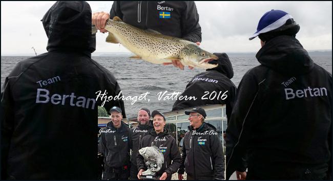 Hjodraget 2016 Vättern Team Bertan Tibro trolling röding öring lax