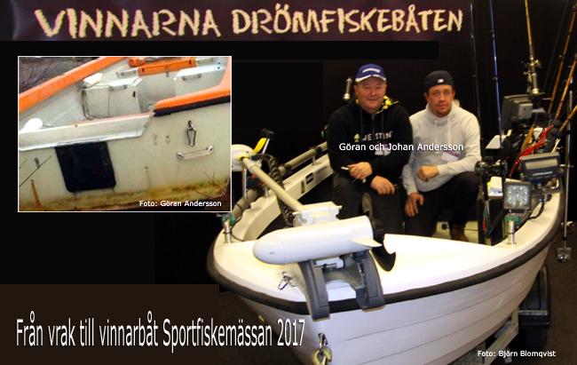 sportfiskebåt drömfiskebåten sportfiskemässan 2017 göran o johan andersson