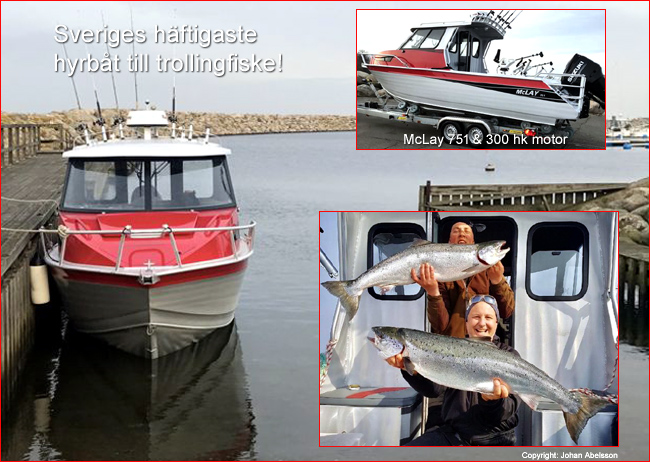 Hyrbåt i simrishamn Mc Lay laxtrolling fiskeguide johan abelsson