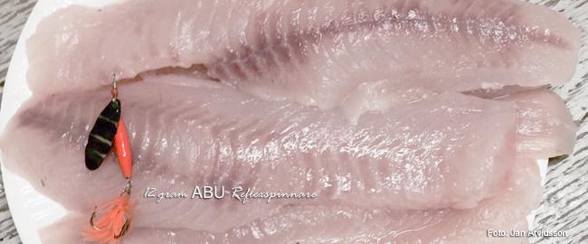 abu reflexspinnare abborrfile matfisk godaste matfisken
