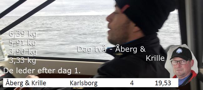 åberg & krille dag två laxcup vättern 2017