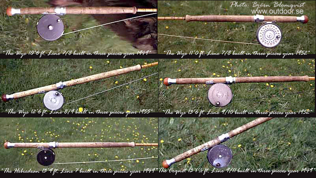 Hardy Fly Rods old vintage from 1949 to 1960 outdoor.se photo bjorn blomqvist