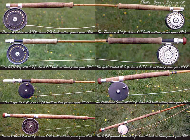 Hardy fly rods vintage old from 1946 to 1960 outdoor.se photo bjorn blomqvist