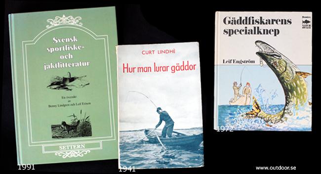 Sportfiskebok samla fiskeböcker drag wobbler skeddrag leif engström curt lindhe gäddfiskebok gäddfiske outdoor björn blomqvist