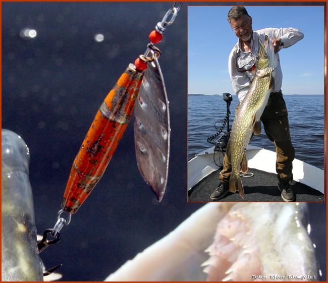 Sonettespinnaren 18 gr silversked jan hagman storgädda haspelfiske