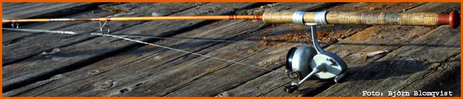 old school haspelfiske haspelspinn haspelrulle haspelspö splitcane gammal utrustning abu 444 arjon spö