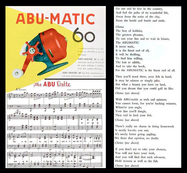 abu waltz 1959 tight lines abu matic abumatic lovsång björn blomqvist inkapslad haspelrulle