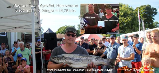 team syndväst vann Hjodraget drag 2018 vättern hjo trollingtävling foto björn blomqvist